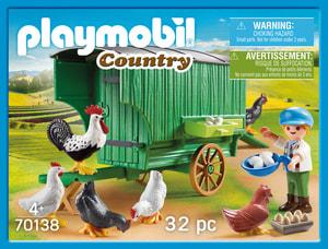 PLAYMOBIL 70138 Enfant et poulailler