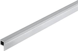 Quadratratrohr 1 Schenkel 7.5 x 14 mm blank 1 m