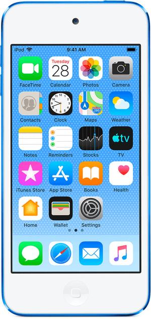 iPod touch 7th Gen 128GB - Blau