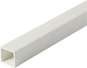 Tube carré 1.5 x 23.5 mm PVC blanc 1 m