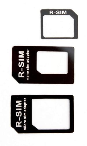 Adaptateur Nano+Micro SIM noir