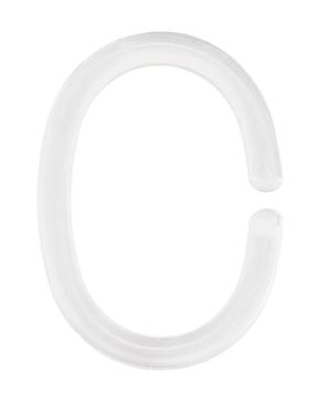 Anneaux de Rideau de douche blanc, 12 pc.