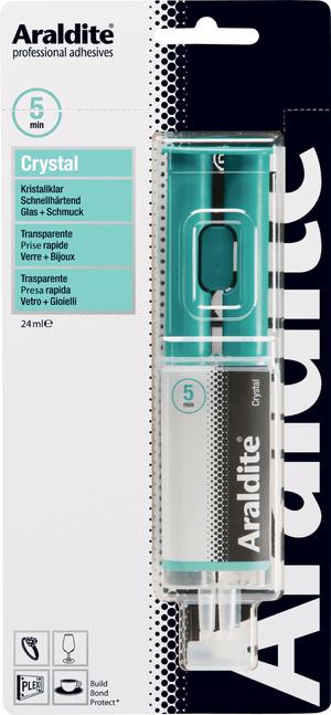 Zweikomponenten Klebstoff Cristal Spritze