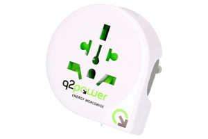 Q2Power Reiseadapter Welt nach Europa (Schuko)