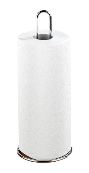 Porte essuie-tout argent brillant