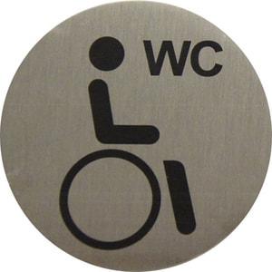 Plaque alu WC handicapés