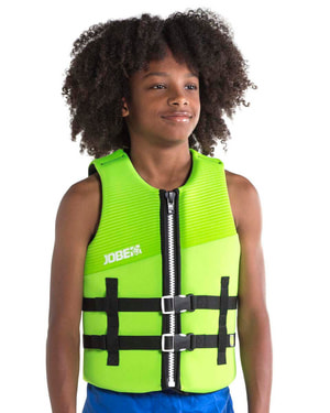 NEOPRENE VEST YOUTH LIME GREEN 16 years