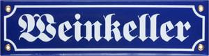 Panneau en émail Weinkeller