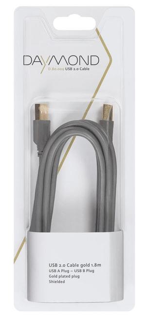 USB 2.0 1.8m gold grau