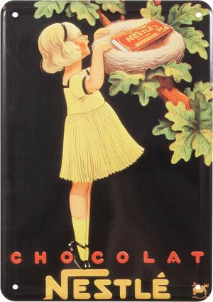 Signe de tôle publicitaire Nestlé Chocolat
