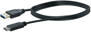 Kabel USB 3.1 1m schwarz USB 3.0 TypA / USB 3.1 TypC