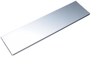 Base in acciaio 800 x 200 mm alluminio bianco 2x