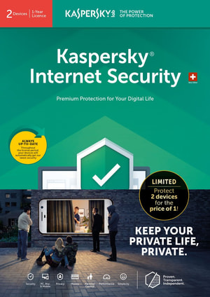 Internet Security 2019 Limited Edition (2 Devices, 1Y) [PC/Mac/Android] D/F/I
