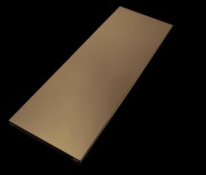 Base in acciaio 800 x 300 alluminio bianco 2x