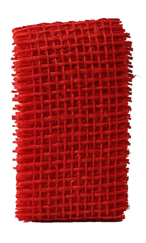 Ruban de Jute rouge, 40mmx1m