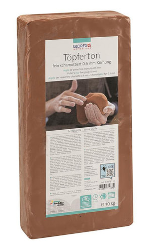 GLOREX Töpferton terracotta 10kg