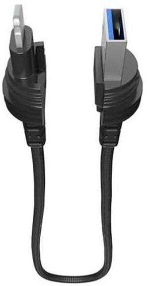 """Kabel 0.4m, Lightning->USB """"black"""""""