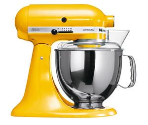 Küchenmaschine Artisan KSM 150 Jubiläums Set sonnengelb