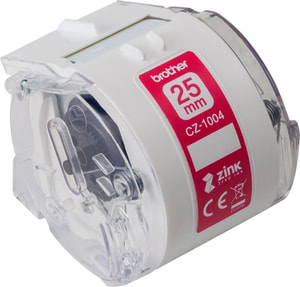 CZ-1004 Farb-Endlosetikettenrolle 25mm/5m VC-500W