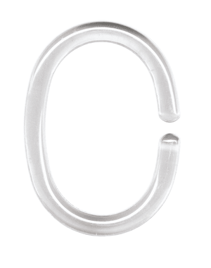 Anneaux de Rideau de douche transparente, 12 pc.