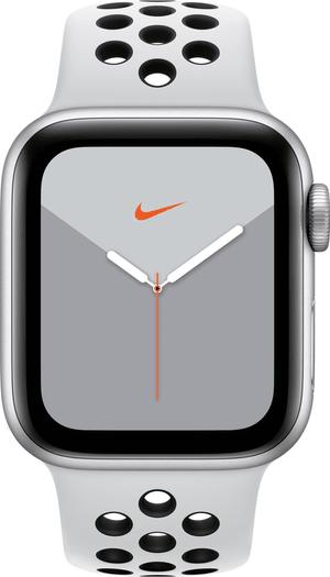 Watch Nike Series 5 GPS 40mm silver Aluminium Pure Platinum Black Nike Sport Band