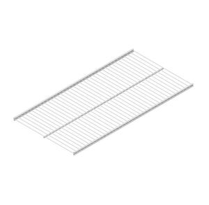 Base in filo metallico 800 x 300 mm bianco
