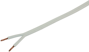 Lautsprecherkabel H03VH-H2x2.5 weiss Spule mit 100m