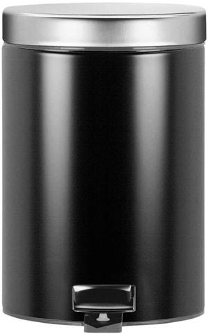 Poubelle à pédale 3l noir