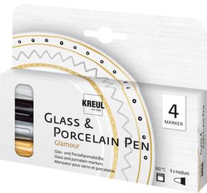 KREUL, glassporcelain pen galmour, set de 4