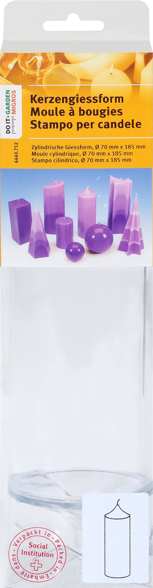Stampo per candele cilindrico, 70X185Mm