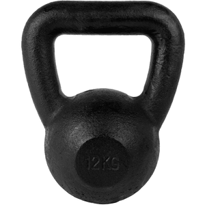 Kettlebell con fondo in gomma 12 kg