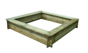 Bac à sable avec assise 160x160cm