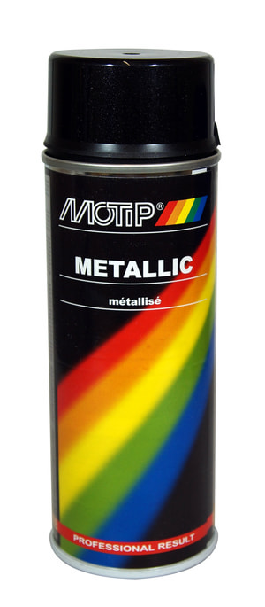 Vernice acrilica nero metallic 400 ml