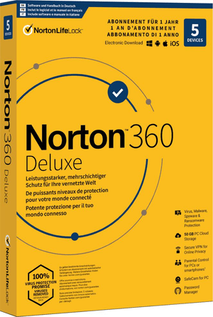 PC/Mac/Android/iOS - Norton Security 360 with 50GB 5 Device
