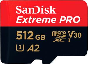 Extreme Pro 170MB/s microSDXC 512Go