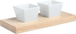 2 Dipp Schalen quadratisch