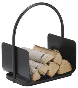 Holzkorb schwarz beschichtet