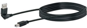 Kabel USB 2.0 1.5m schwarz, USB 2.0 TypA 360° / USB 2.0 TypB