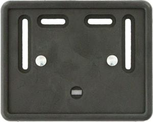 Cornice per targa motocicletta materia sintetica nera 18 x 14 cm
