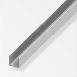 U-Profil  1.3 x 8 x 10.1 mm silberfarben 2 m