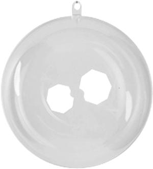 Boules en plastique 8cm 3 p.