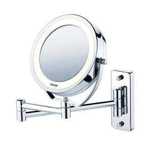 Kosmetikspiegel beleuchtet 2 in 1 BS59 silber