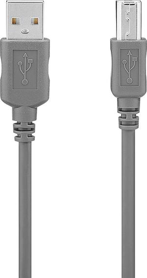 Câble USB 2.0 1.8m gris