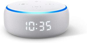 Echo Dot (3. Gen.) mit Uhr - Sandstein