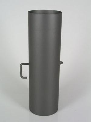 Rauchrohr 25 cm, mit Drosselklappe