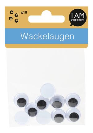 Wackelaugen, 15mm, 10 Stk.