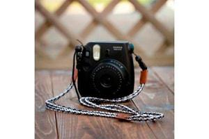Fufjifilm Instax Mini 8 Strap noir / blanc ceinture d'épaule