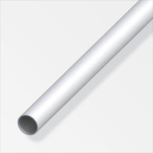 Rundrohr 1 x 6 mm silberfarben 2 m