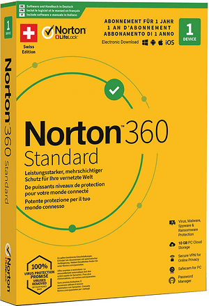 PC/Mac/Android/iOS - Norton Security 360 with 10GB 1 Device