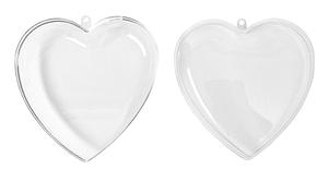 Kunststoff Herz 2teilig